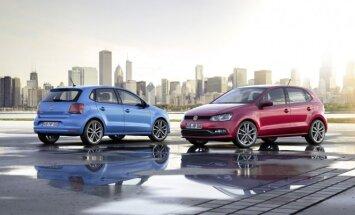 Dabartinės kartos Volkswagen Polo automobiliai