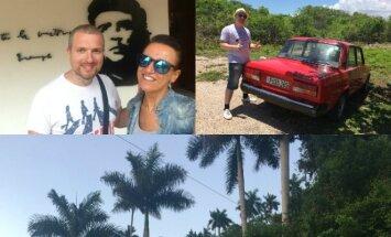 Katažina ir Deivydas Zvonkai Kuboje