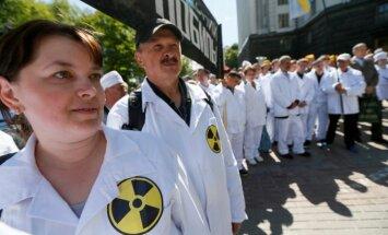 Černobylio atominės elektrinės darbuotojai