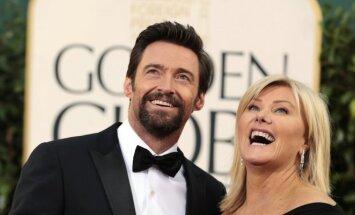 Hughas Jackmanas su žmona