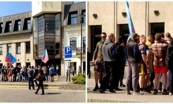 Karinių pratybų inscenizacija Panevėžyje. Foto / DELFI skaitytojas