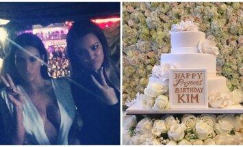 Kim Kardashian gimtadienio vakarėlio akimirka.