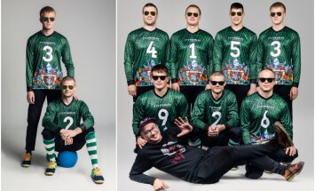 Aleksandro Pogrebnojaus kurti drabužiai golbolo žaidėjams