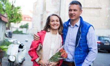Jurgite Jurkutė-Širvaitė su vyru Ryčiu