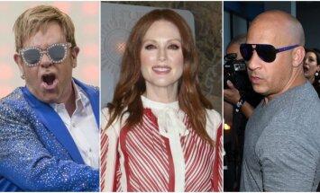Eltonas Johnas, Julianne Moore, Vinas Dieselis