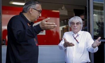 Sergio Marchionne ir Bernie Ecclestone'as