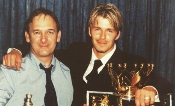 Davidas Beckhamas su tėvu