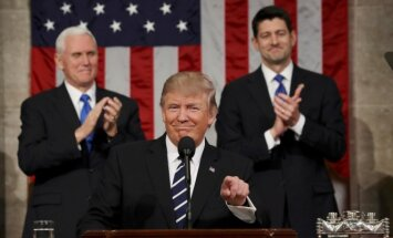 President Donald Trump speed in the US Congress