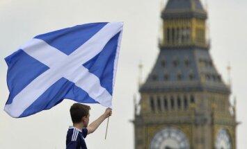 Škotų sirgalius Londone