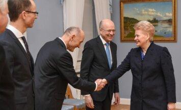 Dalia Grybauskaitė ir Koenas Lenaertsas