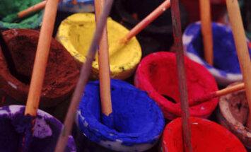 dažai, tapyba, dailininkas, teptukai, spalvos