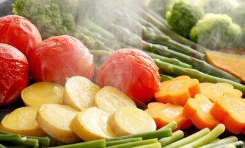Garuose kepamos daržovės