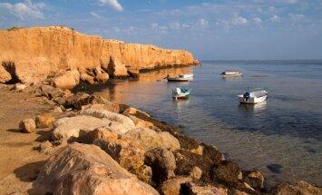 Tuniso rytinė pakrantė prie Džerbos salos