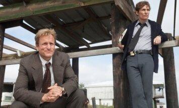 Serialo Tikras detektyvas pirmo sezono aktoriai Woody Harrelsonas ir Matthew McConaughey