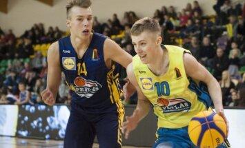 Lietuvos moksleivių krepšinio lygos žvaigždžių dienos akimirka