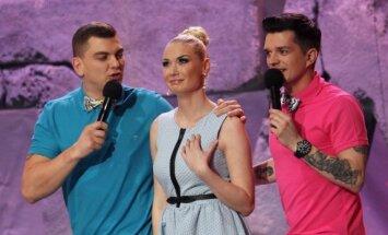 Rolandas Mackevičius (kairėje), Natalija Bunkė ir Jonas Nainys