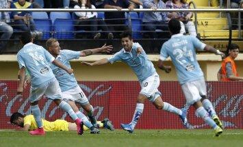 Celta futbolininkai džiaugiasi pergalingu įvarčiu