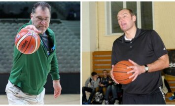 Arvydas Sabonis ir Sergejus Grišajevas (DELFI, Juchasport.rf nuotr.)