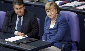Sigmar Gabriel and Angela Merkel