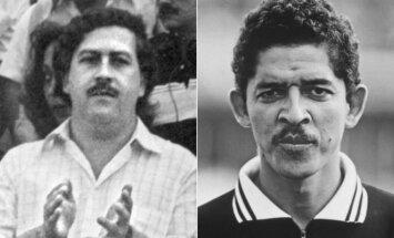 Pablo Escobaras (kairėje) ir teisėjas Alvaro Orega (AFP-Scanpix, Twitter nuotr.)