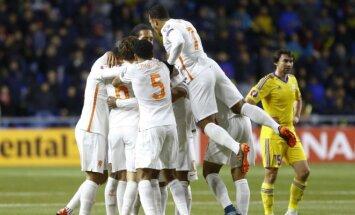 Olandijos futbolininkų džiaugsmas