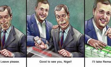Antanas Guoga ir Nigelis Farage'as