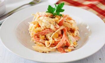 Morkų ir kopūstų salotos su ypatingu padažu