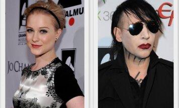 Evan Rachel Wood ir Marilynas Mansonas