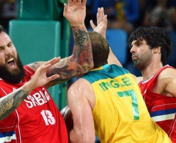 Nepadorus pusfinalis: lietuvius triuškinę australai – bejėgiai prieš Serbiją