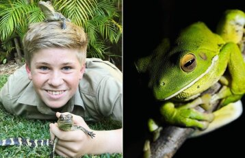 Krokodilų gaudytojo sūnus seka tėvo pėdomis: berniuko nuotraukos stebina pasaulį