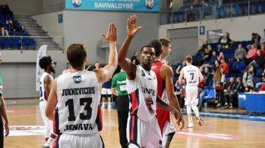 """Nacionalinės krepšinio lygos rungtynės: """"Sintek-Jonava"""" - """"Perlas"""""""