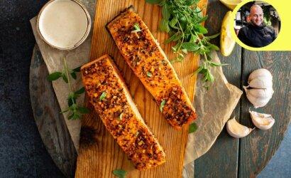 Grilio meistras dalinasi lašišos receptu – patiks net nevalgantiems žuvies