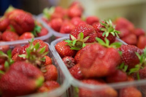 First locally-grown strawberries reach marketplaces, but prices bite