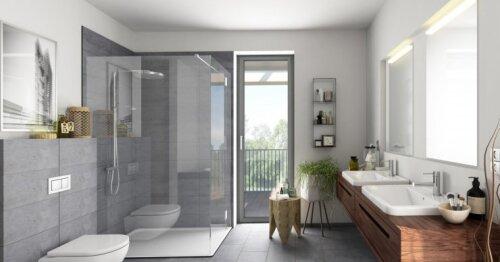 Visa vonia – viena spalva: ką daryti, kad interjeras nebūtų nuobodus