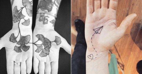 Nauja tatuiruočių mada: piešiniai ant delnų