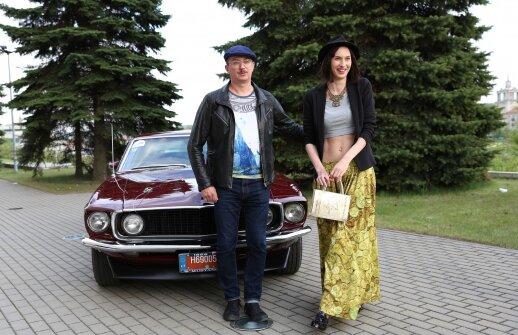 Aleksandras Pogrebnojus su žmona Monika