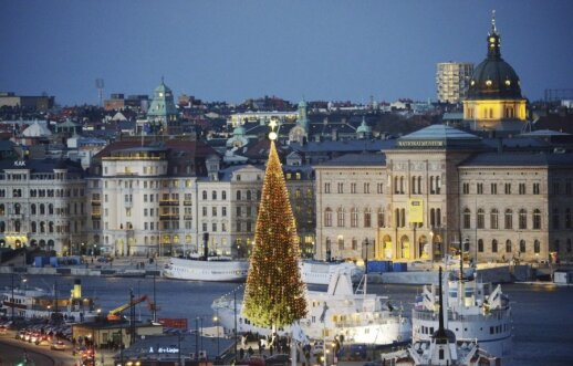 Kalėdų eglė Stokholme