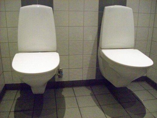 Tualetas aludėje Stokholmo centre, nuotr. Z. Voitiulevičiūtės