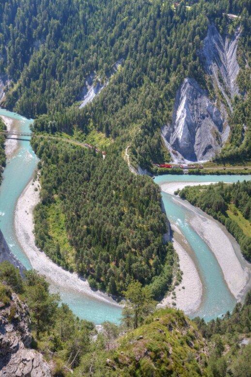 Reino kanjonas Šveicarijoje