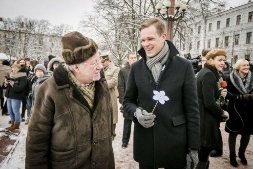 Vytautas Landsbergis ir Gabrielius Landsbergis
