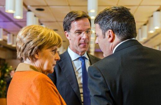 A. Merkel, M. Rutte, M. Renzi