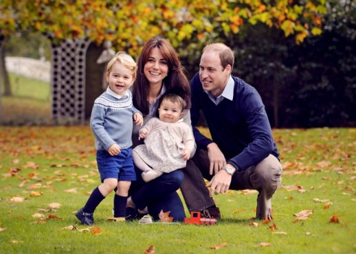 Princas Williamas, Kate Middleton, princas George ir princesė Charlotte