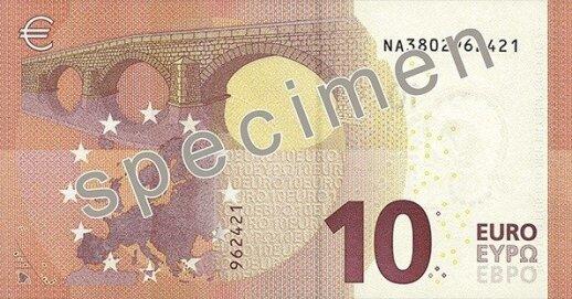 10 eurų banknotas ECB nuotr.