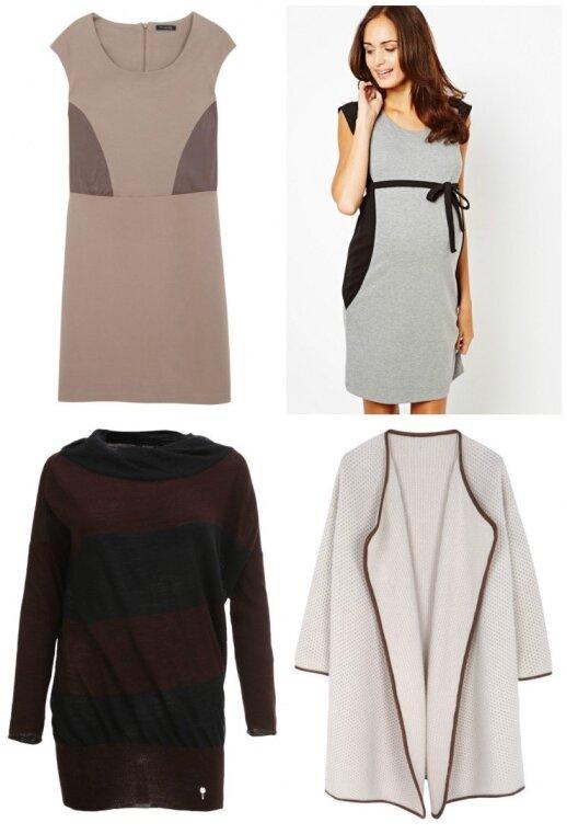 """Suknelės """"Massimo Dutti"""" ir """"Asos"""", megztinis """"Aprangos galerija"""", puspaltis """"Massimo Dutti"""""""