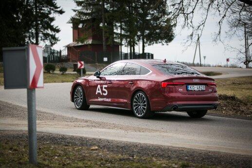 """""""""""Audi A5 Sportback"""" posūkiuose važiuoja greitai ir tiksliai"""