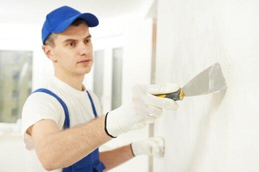 Specialistai pataria, kaip paruošti sienas dažymui