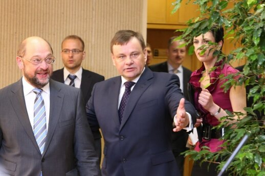 M. Schulzo vizitas Seime (Seimo kanceliarijos nuotr.)