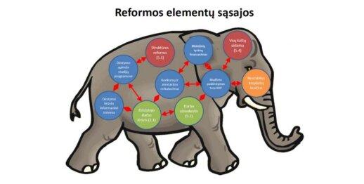 Reformos VU elementų sąsajos