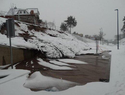 Alytuje formuojasi ledo luitas