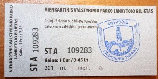 Saugomų teritorijų bilietas
